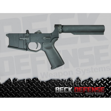BECK DEFENSE COMPLETE LOWER RECEIVER----BILLET----WITHOUT STOCK
