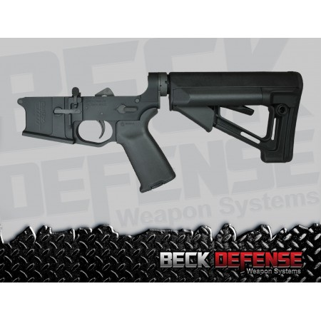 BECK DEFENSE COMPLETE LOWER RECEIVER----BILLET----